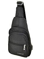 Мужская сумка на плечо Lanpad Р1-01805 мини рюкзак/бананка через плечо USB выход 19*30*9см, фото 1