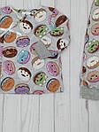 """Детский комплект распашонка+штанишки для карапузов"""" Пончики"""", фото 2"""