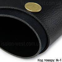 Термовинил черный для перетяжки руля, дверных карт, панелей на каучуковой основе (tk-1)