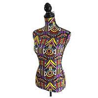 Манекен женский для одежды, тканевый, фиолетовый/разноцветный