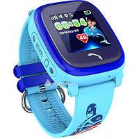 Детские смарт часы с GPS трекером UWatch DF25 Kids waterproof smart watch  Blue Акция -33 65c74fd30b39a