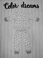 """Детский комплект из двух предметов распашонка+штанишки для малышей """" Лисички"""""""