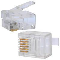 Штекер телефонный 6р6с, на кабель