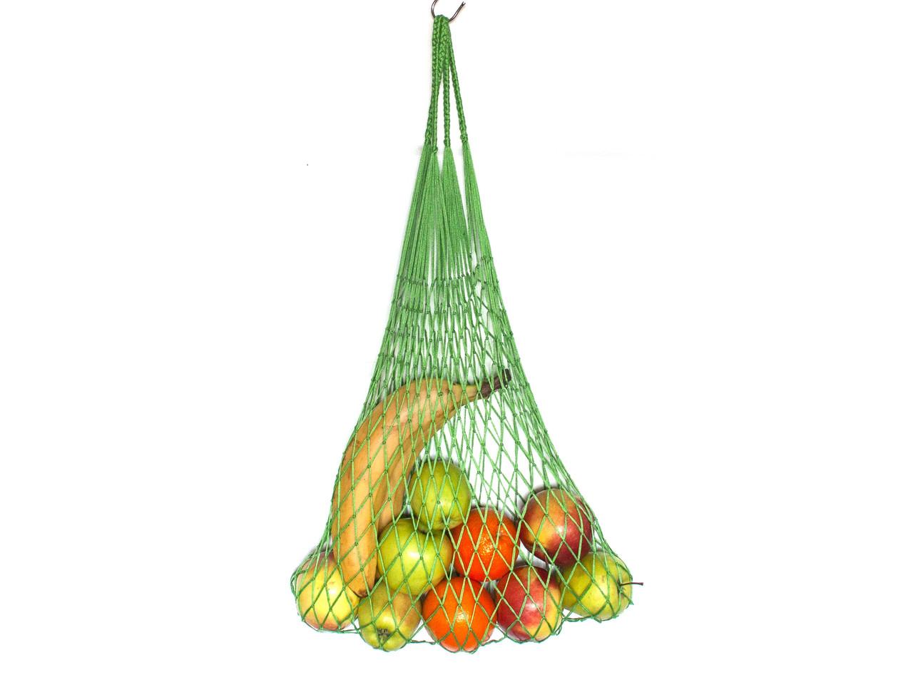 Сумка  хлопковая - Авоська - Премиум - Зеленая сумка