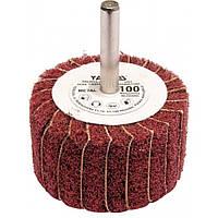 Круг YATO O = 50 мм с наждачных лепестков К100, со шпинделем к дрели O = 6 мм, h = 30 мм YATO YT-83391