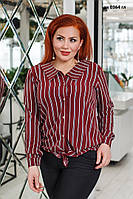 Блузка батальная женская  ак 0364 гл, фото 1