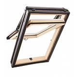 Енергозберігаюче дахове вікно ROTO DESIGNO R79 H WD дерево 74х140 з коміром, фото 2