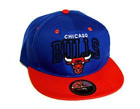 Кепка-трекер Chicago Bulls синя з червоним доросла