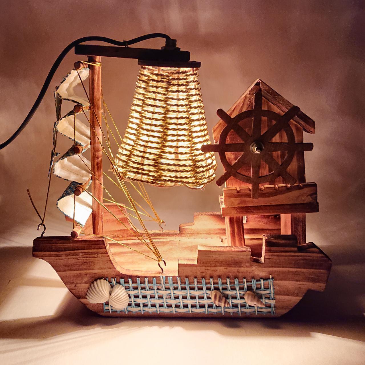 "Декоративная лампа-ночник ""Лодка """