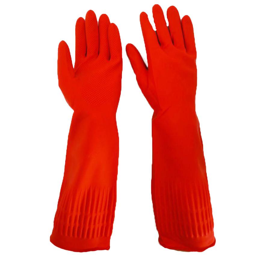 """Перчатки резиновые длинные, хозяйственные, прочные, утеплённые, """"Алиско"""", размер — L"""
