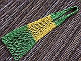 Сумка для покупок - Авоська - полосатая - зелёная-желтая, фото 2