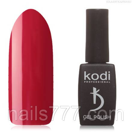 Гель лак Kodi  №01WN, бордово-красный