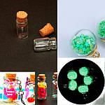 Стеклянные маленькие бутылочки, стеклянные шарики - кулоны