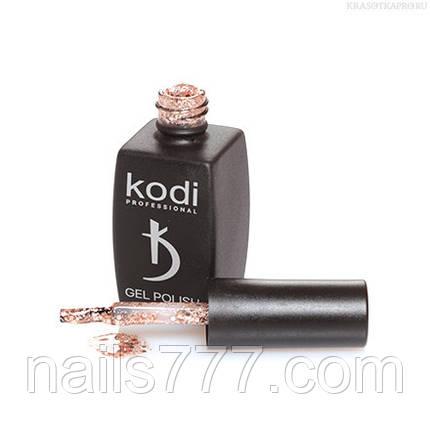 Гель лак Kodi  №01SH, с золотисто-бронзовыми блестками разной величины, фото 2