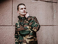 Анорак ветровка мужской весенний/осенний Найк, цвет камуфляж, фото 1