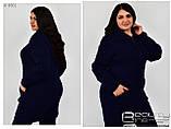 Теплый женский кардиган  размеры 54-56.58-60, фото 3