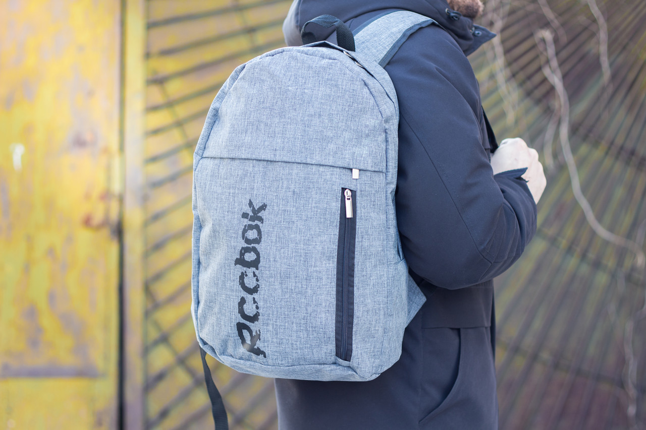 Рюкзак  Рибок / Reebook,  Мужской Серый Меланж