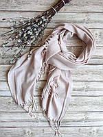 Женский шарф палантин пудровый