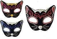 Венецианская маска кошка фетр (3 цвета)