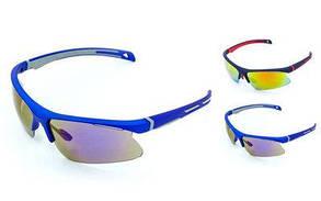 Очки вело солнцезащитные MC5265-G  (пластик, акрил, салатовый-чёрный)