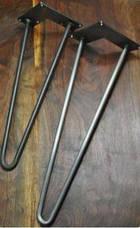 Ножки для стола металлические 2Rod. Высота h360мм, фото 2