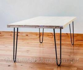 Ножки для стола металлические 2Rod. Высота h360мм, фото 3