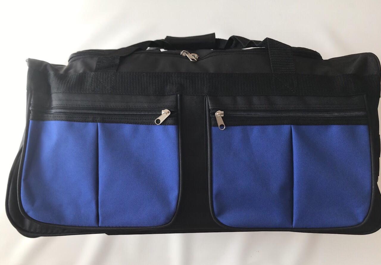 Дорожная сумка на колесах маленькая с выдвижной ручкой