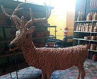 Садовая фигура плетеная Олень большой