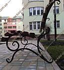 Лавка садово-парковая со спинкой 1,5 м. №2, фото 4