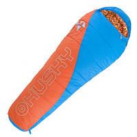 Спальный мешок детский HUSKY KIDS MERLOT -10 Голубо-оранжевый, фото 1