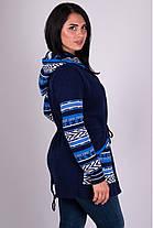 Модна кофта жіноча в'язана на блискавці 44-52, фото 3