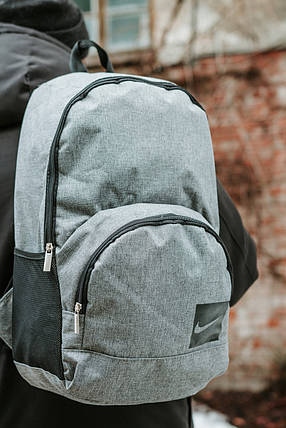 Рюкзак Nike (Найк) серый (меланж), фото 2