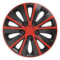 Колпаки на колеса R 14 Рапид (черно-красные)