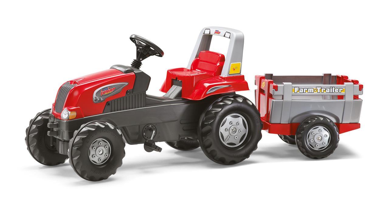 Трактор Педальный с Прицепом Junior Rolly Toys 800261
