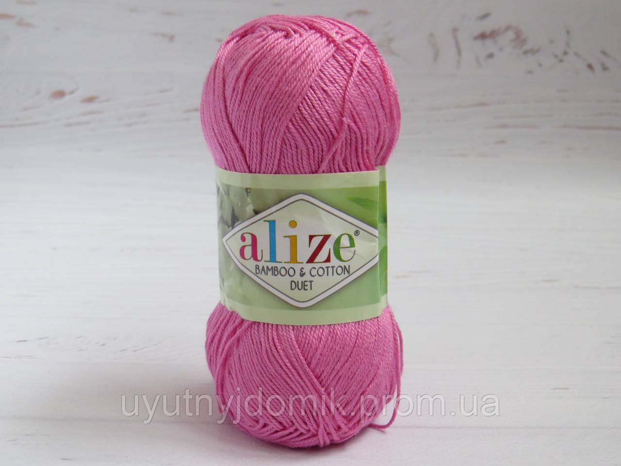 пряжа для вязания Alize Bamboocotton цвет 178 розовый бамбуковая