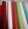 Пленка для упаковки подарков ПОЛОСА красная рулон 0,6х10м, фото 3