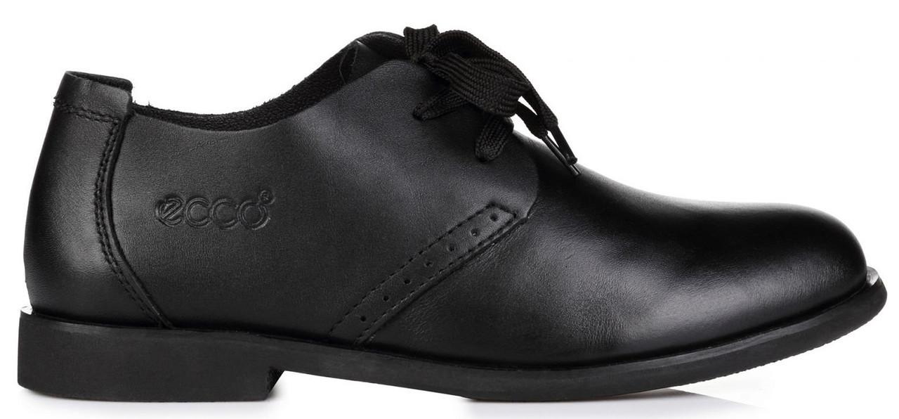 8bd9de665 Мужские кожаные туфли ECCO Derby Black (Экко) черные - Магазин обуви Bazara  в Киеве