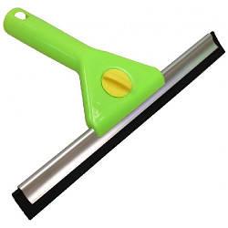 Скребок оконный, 25 см, пластик, зеленый