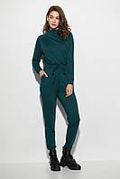 Женский комбинезон брючный темно-зеленый, фото 1