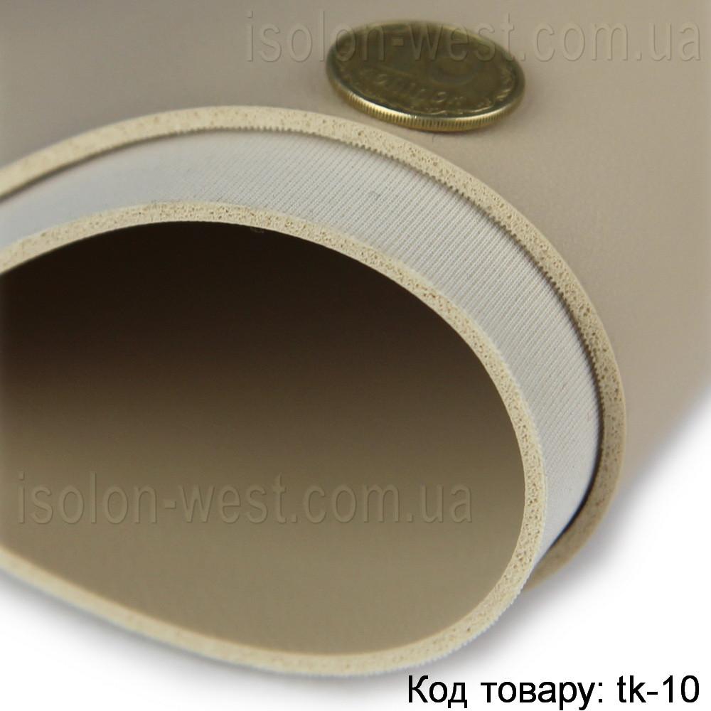 Термовинил светло-бежевый (глянцевый) для перетяжки руля, дверных карт, стоек на каучуковой основе (tk-10)