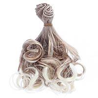 """Волосы для кукол 15см/1м Латте/Блонд, омбре """"Кудряшки"""", синтетические трессы"""