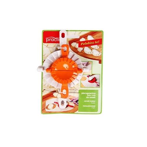 Форма для лепки вареников, набор 2 шт., пластик, бежевый/оранжевый