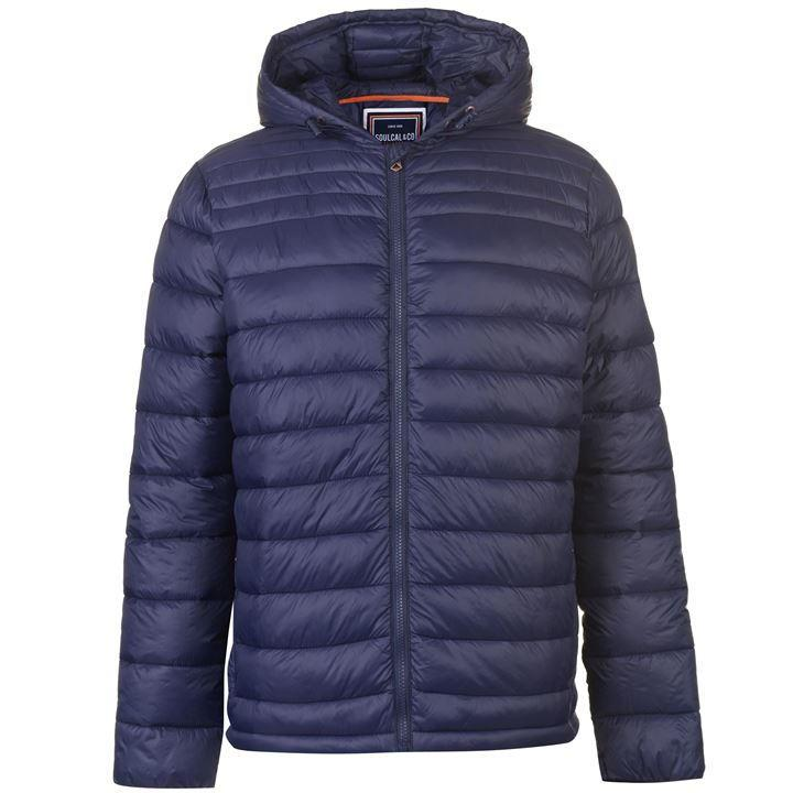 Куртка SoulCal Micro Hooded Bubble Jacket Mens