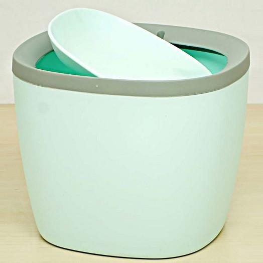 Контейнер для кухонного мусора, настольный, бирюзовый