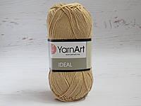 Пряжа для ручного вязания YarnArt Ideal цвет 233 бежевый, хлопковая пряжа для вязания игрушек, детская пряжа