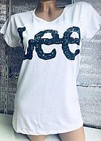 Футболка коттоновая женская Lee, фото 1
