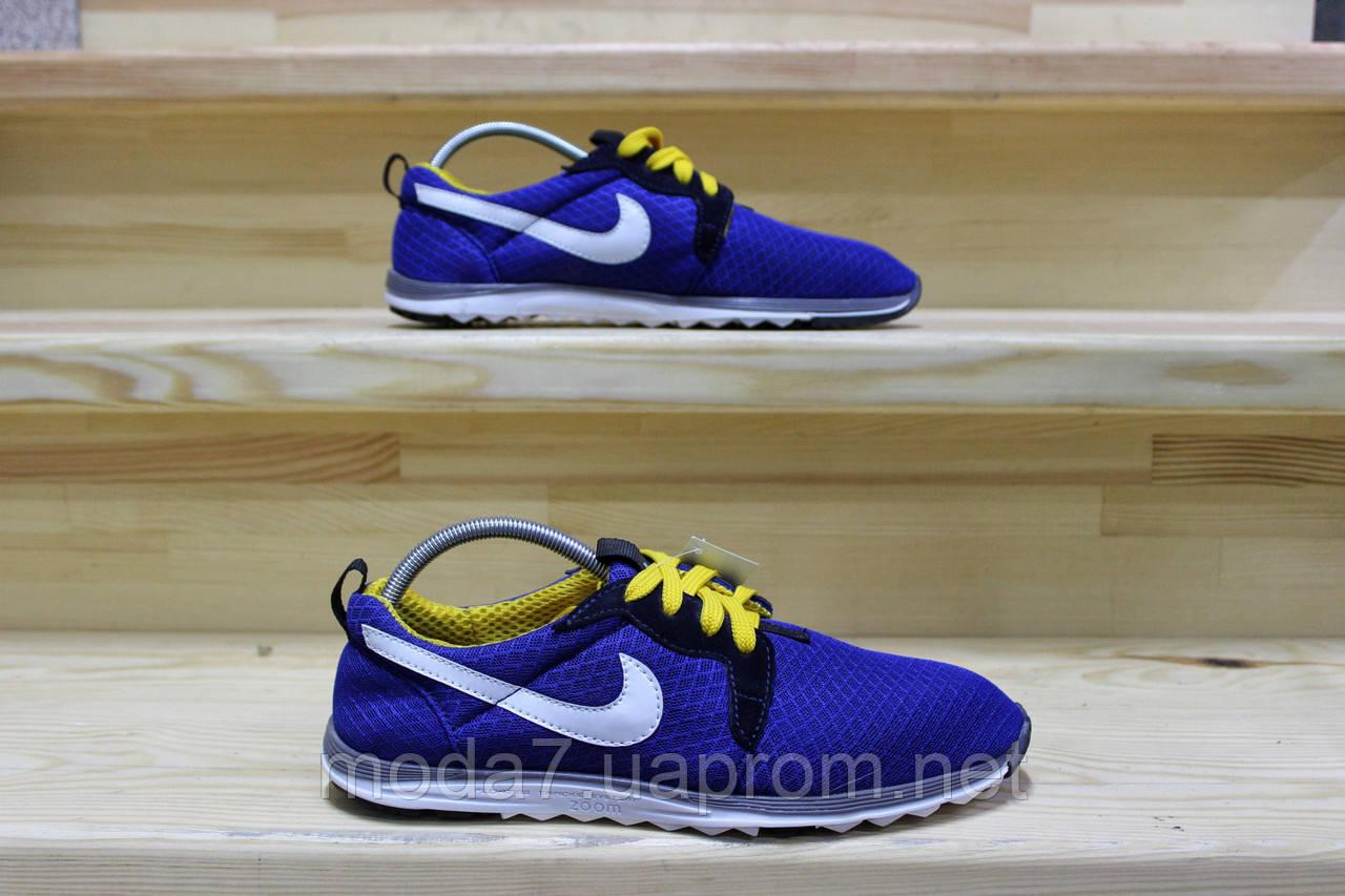 Мужские кроссовки Nike сетка синие реплика