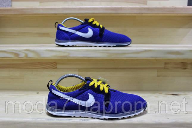 Мужские кроссовки Nike сетка синие реплика, фото 2
