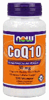 Коэнзим, Коq10, Now Foods, CoQ10, 30mg, 120 caps