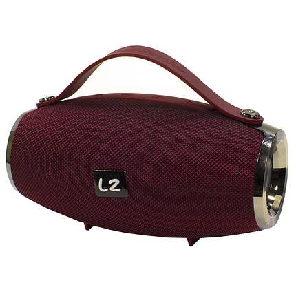 ★Bluetooth-колонка BL LZ E16 mini Red с ручкой беспроводное Блютуз подключение портативная Стерео, фото 2